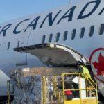 Air Canada перевозит грузы на пассажирских самолётах